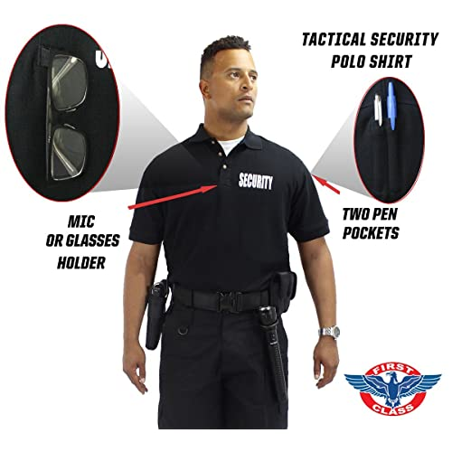 6b4e96efe First Class Poly Cotton Tactical Security Polo Shirts - Security Guard - Security  Officer Shirt