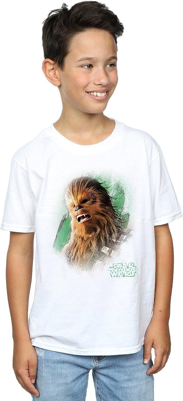 STAR WARS Boys The Last Jedi Chewbacca Brushed T-Shirt 9-11 Years White