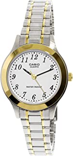 Casio Women's White Dial Stainless Steel Band Watch LTP-1128G-7B