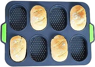 【人気-最新型】Canshuyan ミニバゲット型 ホットドッグ型 パン型 食パン型 ケーキ 型 フランスパン型 焼き型 通気性 シリコン 食パン ミニバゲット ハンドル ミシン目 粘りにくい 調理道具 ベーキングツール マフィン キッチン用 ...