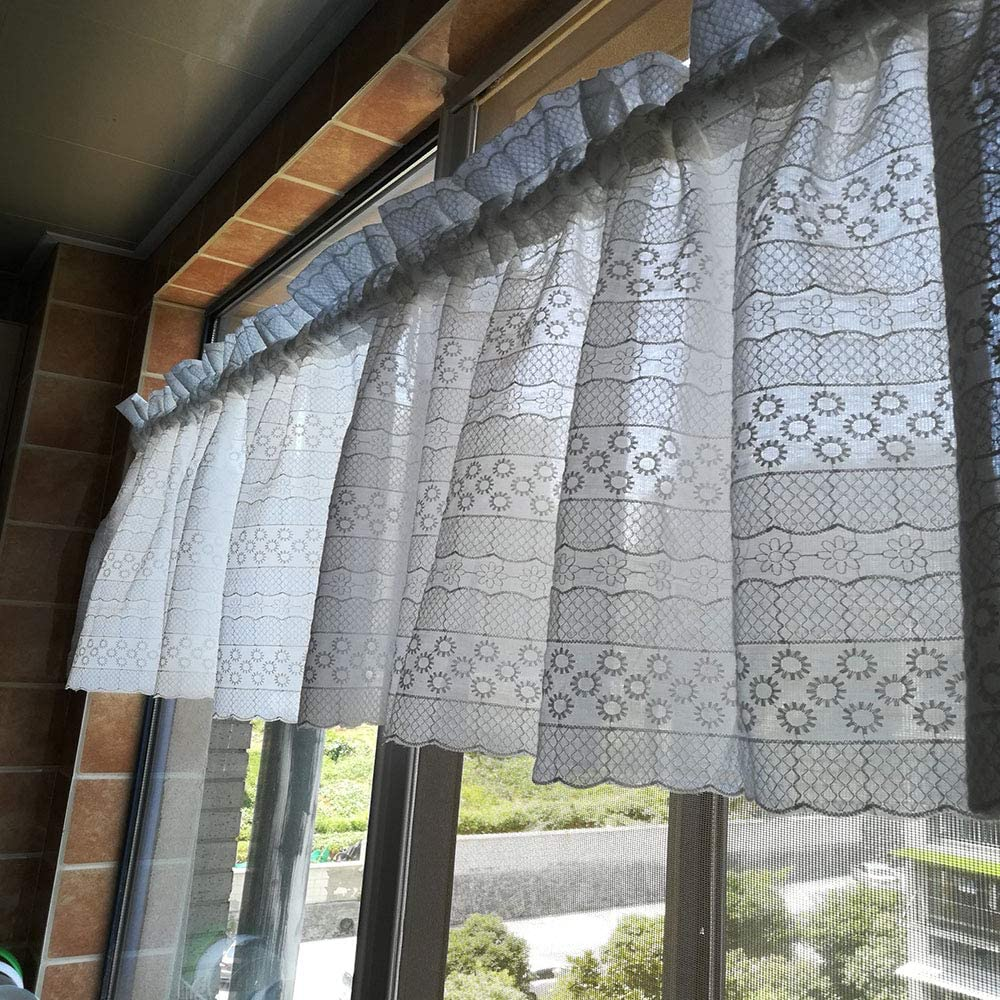 2021new shipping free shipping L22in Kitchen Curtain Tier Curtains Cotton Half Max 49% OFF Window Treatment