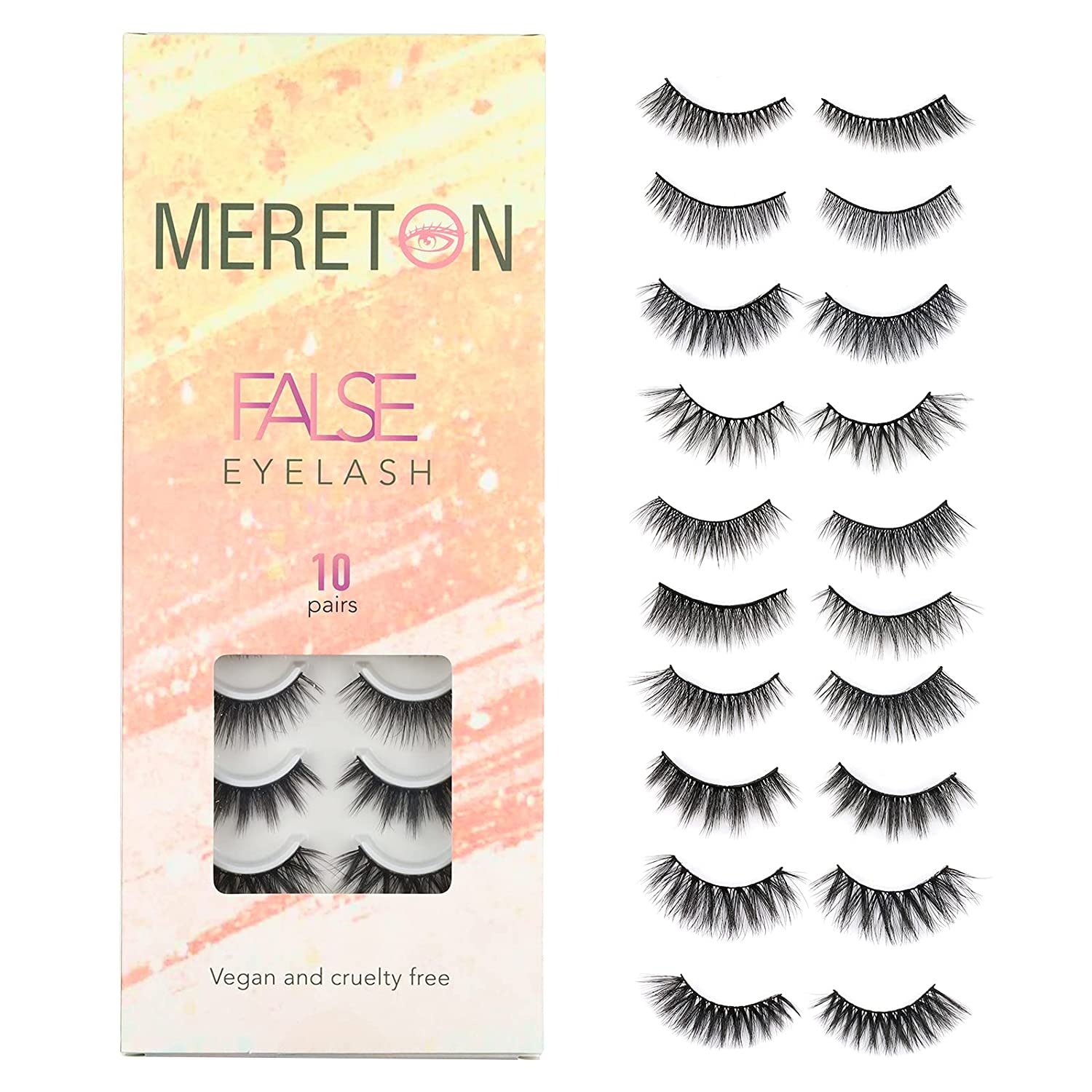 Selling MERETON 10 Styles Mix False Eyelashes Outlet ☆ Free Shipping Natural Look Pairs 3D F