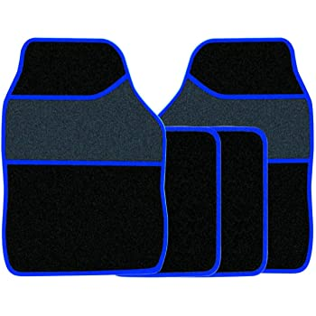 FORD FOCUS 2011 ONWARDS TAILORED BLACK CAR MATS WITH BLUE TRIM