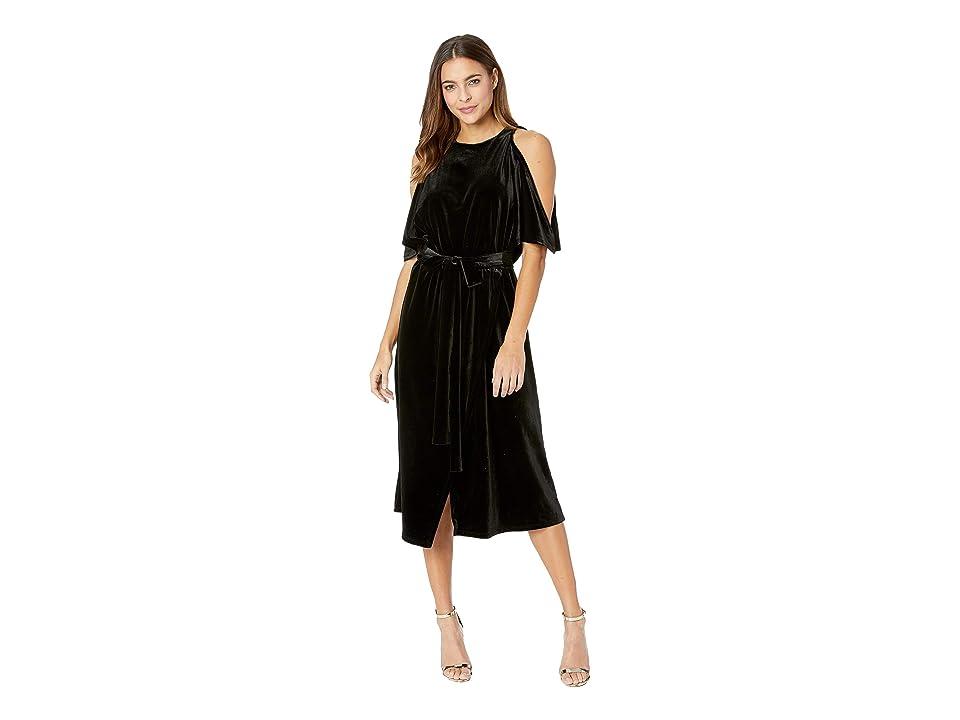 Bishop + Young Gal Velvet Midi Dress (Black) Women