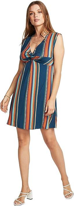 Cool Jersey Twist Front Sleeveless Babydoll Dress
