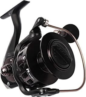 Fiblink Spinning Reel Aluminum Body 66 LBs Max Drag 4.1:1 High Speed Gear Ratio Left/Right Interchangeable Collapsible Han...