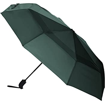 AmazonBasics Automatic Open Travel Umbrella with Wind Vent - Green