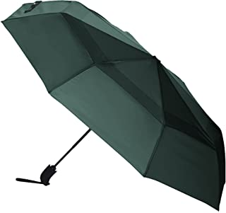 AmazonBasics Automatic Open Travel Umbrella with Wind Vent - Green