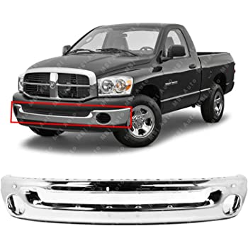 CH1019103 Textured Black Front Bumper Upper Top Step Pad for 2006-2009 Dodge Ram 06-09 MBI AUTO