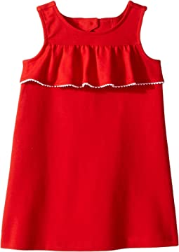 Janie and Jack Ruffle Front Dress (Toddler/Little Kids/Big Kids)