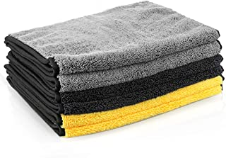 MATCC Microfiber Cleaning Cloths 6 Pack 16'' x 32'' Microfiber Towels for Cars Ultra-Thick Super Absorbent Car Microfiber Towel for Washing Polishing Waxing and Drying Detailing Towel