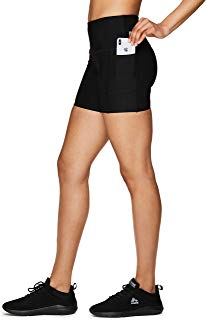 RBX Active Women's Running Workout Yoga Bike Shorts with Pockets