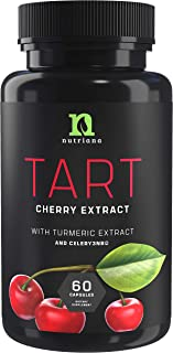 Tart Cherry Capsules with Celery Seed and Turmeric | Tart Cherry Extract 2500 mg | Uric Acid Cleanse Support, Joint Comfor...