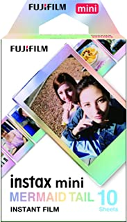 FUJIFILM インスタントカメラ チェキ用フィルム 10枚入 絵柄 (マーメイドテイル) INSTAX MINI MERMAID TAIL WW 1