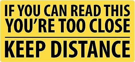 Afstand houden - Grappige autosticker - stickers voor auto's - zwart vinyl/beste stickers - als je dit kunt lezen