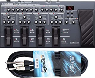 Boss ME-80 - Dispositivo multiefectos e interfaz para guitarra (incluye cable jack keepdrum de 3 m)