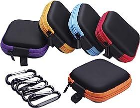 Sunmns 5 Pieces in Ear Bud Earphone Headset Headphone Case Mini Storage Carrying Pouch..