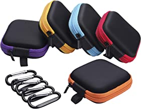 Sunmns 5 Pieces in Ear Bud Earphone Headset Headphone Case Mini Storage Carrying Pouch..