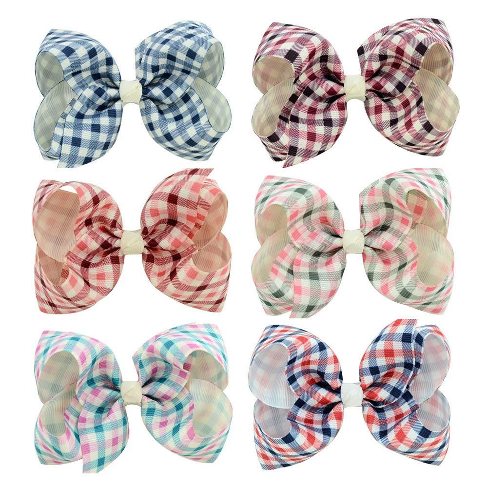Baby Nautical Hair Clips Pin Ribbon Bow Nautical Anchor Headdress Headdress JBC29 (6 Pcs Set-D)