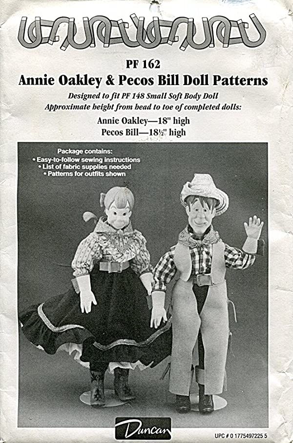 Duncan Pattern PF162 Annie Oakley & Pecos Bill Dolls and Clothing