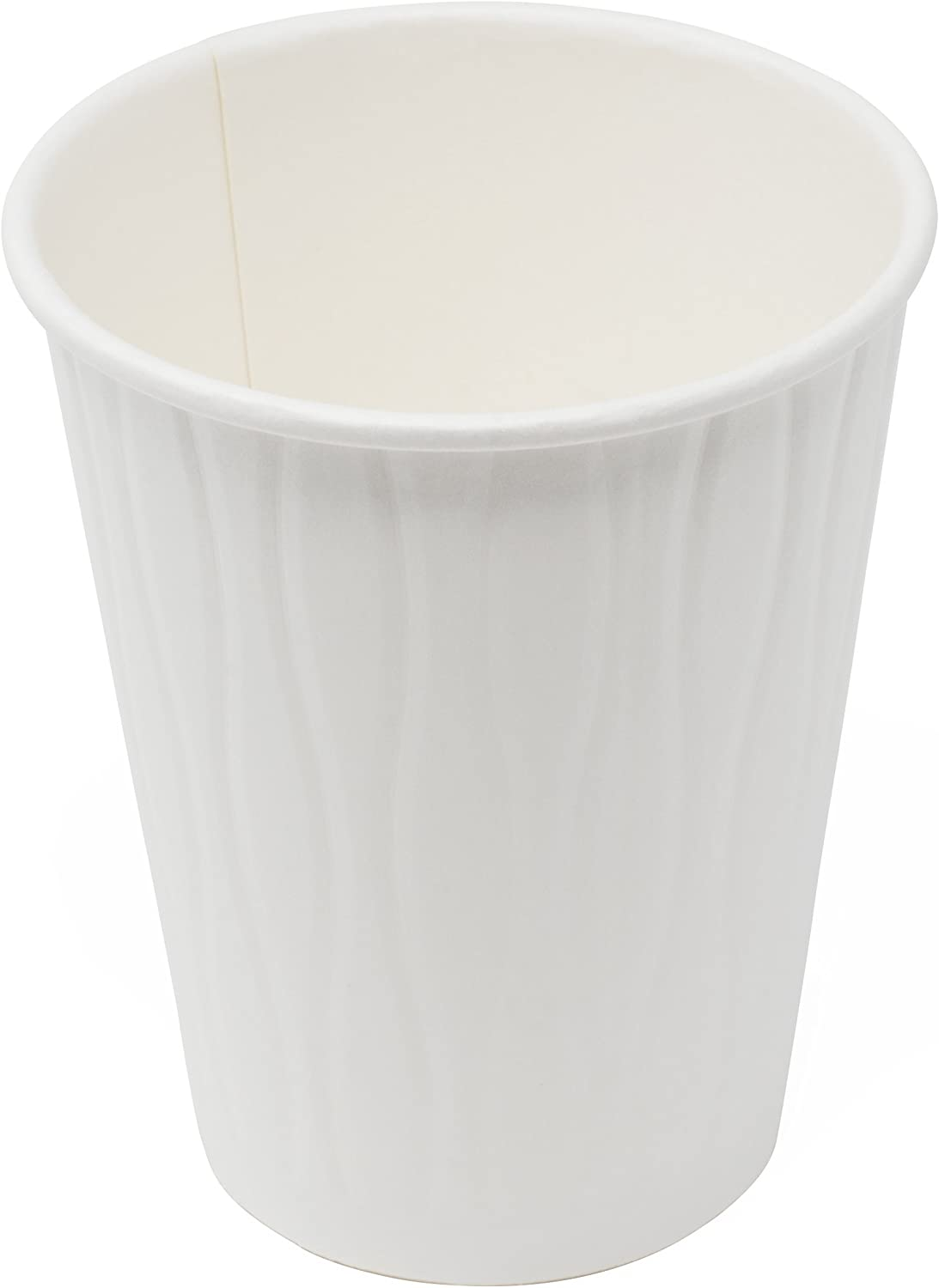Simply Deliver 12 oz Paper Hot Cup, Double-Wall, Poly-Coated, White, 1000-Count