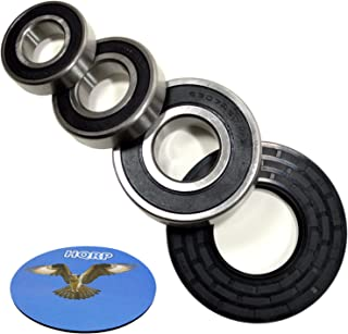 HQRP Bearing and Seal Kit works with Whirlpool WFW9200SQ00 WFW9200SQ01 WFW9200SQ02 WFW9200SQ03 WFW9200SQ04 WFW9300VU02 Front Load Washer Tub + HQRP Coaster