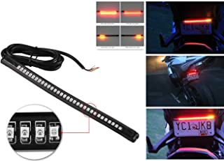 Bolaxin Universal Flexible 32 LED Motorcycle Light Strip Tail Brake Stop/turn Sign Light