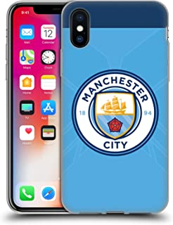 Official Manchester City Man City FC Home Badge Kit 2016/17 Soft Gel Case Compatible for iPhone X/iPhone Xs