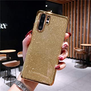 YWCXMYLDL-AE Luxury Bling Glitter Phone Case For Huawei honor 7A 7X 8 8X 8A Max 9 9i 10i 20i V 10 Lite 20 Pro Play Soft Silicone Sequin Cover (Color : A-Golden, Size : For honor 8X Max)