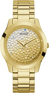 GUESS Women's Analog Watch with Stainless Steel Strap, Gold, 20 (Model: GW0020L2)