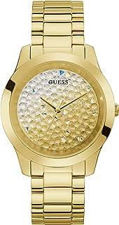 ساعة انالوج بعقارب وسوار من ستانلس ستيل للنساء من جيس، ذهبي، مقاس 20 (موديل: GW0020L2)