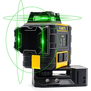 Kaiweets Laser Level 3 X 360 Green Line Self Leveling Construction Laser With Pulse Mode Working Time Up To 40h With 2 Rechargeble Lithium Batteries Magnetic Pivoting Base Target Plate Kt360a Amazon Com