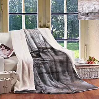 Sherpa Throw Blanket Country Sailing Boat Ship Old Town Upgraded Thick Lazy Blanket W59x78L