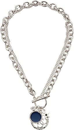 GUESS - Toggle Front Chain Necklace with Charms