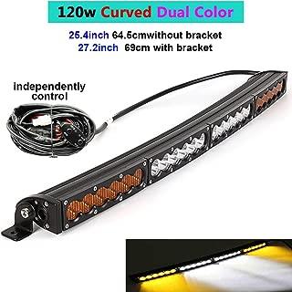 Dual Color Curved LED Light Bar 25.4