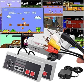 JKOWANS Classic Game Console, Retro Classic Video Game Console AV Built-in 620 Game with 2 Controllers Handheld Games for Kids & Adults HDMI HD NES Console