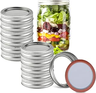 Elegital Regular Mouth Mason Jar Lids and Bands, Resuable Split-Type Caning Lids, Stainless Steel Leak Proof and Secure Ca...