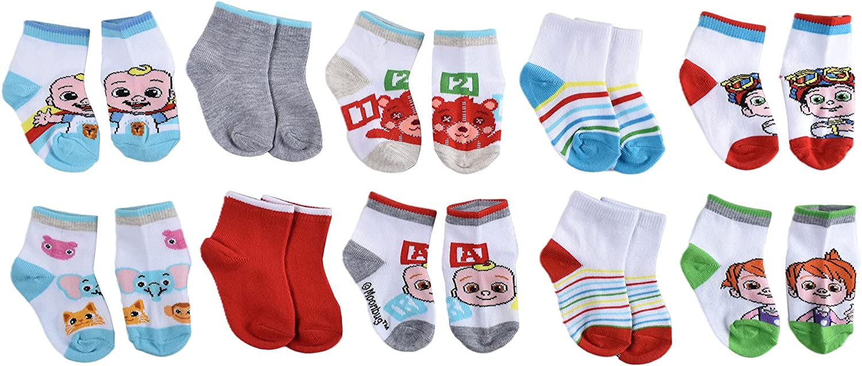 CoComelon boys Quarter Socks