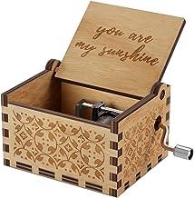 Caja musical de madera NNDUO You are My Sunshine con grabado láser, caja musical de madera, regalo para cumpleaños, Navidad, día de San Valentín, madera, You Are My Sunshine, 2.55*1.97*1.5 inch