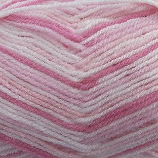 King Cole Candystripe Double Knitting Yarn 100% Premium Acrylic DK Wool 100g Ball (Strawberry - 435)