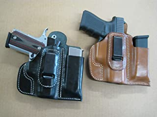 Azula Leather IWB Combo Holster and Mag Pouch CCW for Springfield EMP 1911 Pistol 3