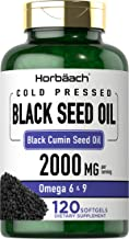 Black Seed Oil 2000mg | 120 Softgel Capsules | Cold Pressed Nigella Sativa Pills | Non-GMO, Gluten Free | by Horbaach