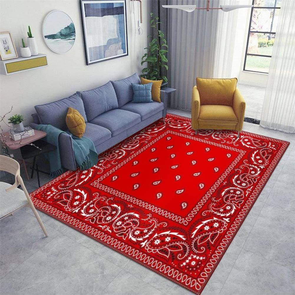 Amazon Com Bandana Red Area Rugs Non Slip Floor Mat Doormats Home Runner Rug Carpet For Bedroom Indoor Outdoor Kids Play Mat Nursery Throw Rugs Yoga Mat Kitchen Dining