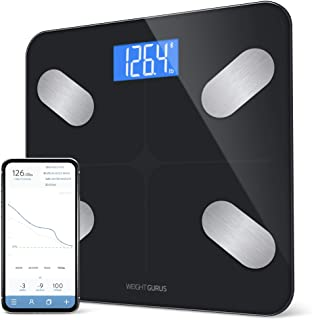 Greater Goods Digital Body Composición Báscula negra, calcula peso, IMC, grasa corporal, masa muscular y peso del agua, di...