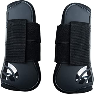 Set of 4 Horse Sports Boots Neoprene Horse Tendon Fetlock Brace Guard Boots Secure Leg Protection Equestrian Equipment for Jumping Riding Eventing Dressage