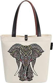 Canvas & Beach Tote Bag Animal Elephant Graphic Handbag Shoulder Bag