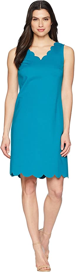 A-Line Dress w/ Scallop Neckline