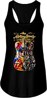 Guitar The Rolling Stones No Filter Tour 2019 Signatures Tank Top for Women Funny Letter Print Tees Tops by RoseCollectionsStore