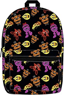 Five Nights at Freddy's Characters Allover Print Backpack Bookbag