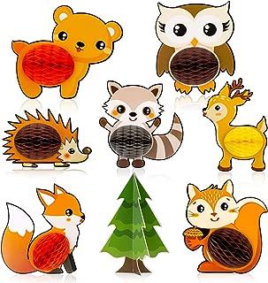 36 Piezas - Decoraciones Animales Del Bosque Partido Globos Guirnaldas De Papel Para Las Decoraciones De La Fiesta De Cumplea/ños De Los Ni/ños Forestales Amigos Temas Partido Decoraciones Forestales